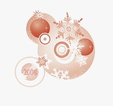 Element For The NYear Card Royalty Free Stock Images