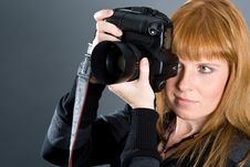 Free Woman Photographing Stock Photography - 3575382