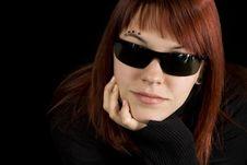 Free Girl Wearing Sunglasses Stock Photography - 3575452