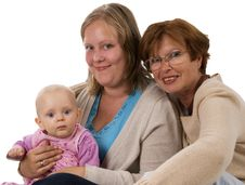 Free Three Generations 6 On White Royalty Free Stock Image - 3575566
