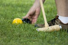 Free Croquet Mallet And Balls Stock Photo - 3575700