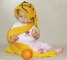 Free Little Girl And Yellow Cap Stock Image - 3576341