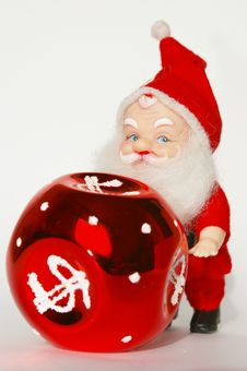 Free Santa Claus And Red Ball Stock Photos - 3576513
