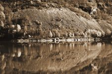 Reflection In Sepia Royalty Free Stock Photography