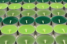 Free Green Candles Royalty Free Stock Photos - 3578588