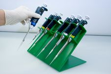 Free Set Of Pipettes Royalty Free Stock Image - 3579546