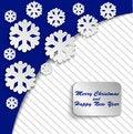 Free Blue Christmas Card Stock Image - 35703561