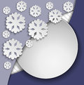 Free Blue Frame With Snowflakes Stock Image - 35703571