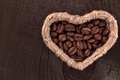 Free Coffee Beans In A Wicker Basket Stock Photo - 35703670