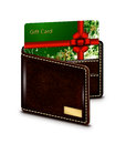 Free Gift Card In Wallet Over White Background Stock Photo - 35709850