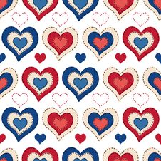 Free Seamless Background With Hearts Stock Photos - 35700393