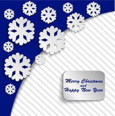 Blue Christmas Card Stock Image