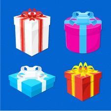 Free Set Of Gift Boxes Stock Photo - 35704620
