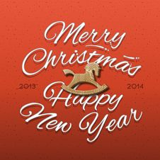 Happy New Year 2014 Greeting Card Royalty Free Stock Photography