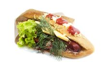 Free Fast Food Sandwich Stock Photography - 35707402