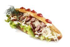 Free Fast Food Sandwich Stock Photo - 35707460