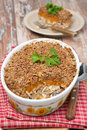Free Gratin With Fish And Pumpkin In A Ceramic Form Royalty Free Stock Photography - 35716637