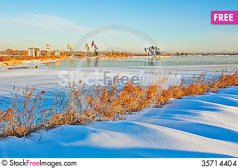 Free The Winter Snow Sunrise Stock Images - 35714404