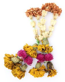 Old Dry Garland Flower Royalty Free Stock Photo