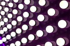 Free White Lights On Purple Background Royalty Free Stock Photography - 35715027