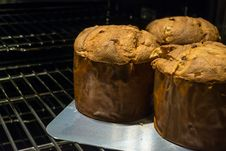 Free Freshly Baked Panettone Stock Photography - 35715642