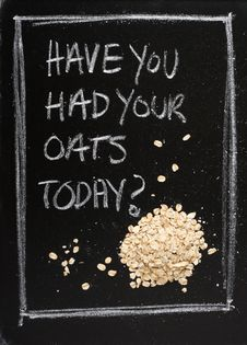 Had Your Oats Today Royalty Free Stock Photos