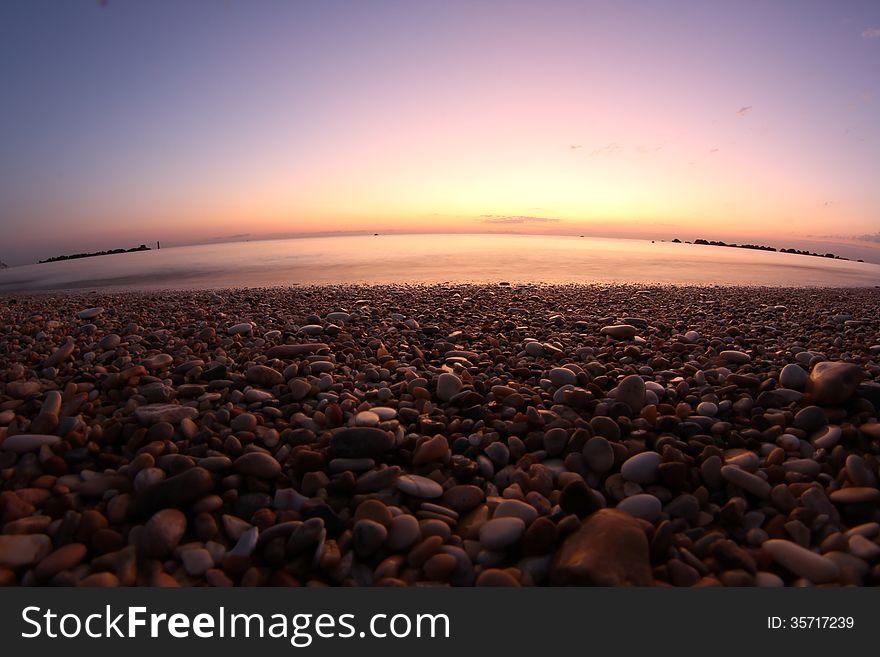 Italy beach rising