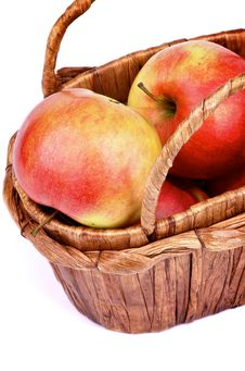 Free Apples In Basket Stock Images - 35720154