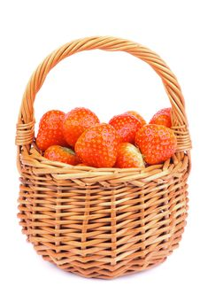 Strawberries In Basket Stock Images