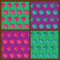 Free Vector Set Of Floral Seamless Pattern Royalty Free Stock Photos - 35759098