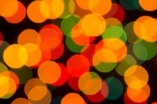 Free Defocused Christmas Lights Stock Photography - 35757192