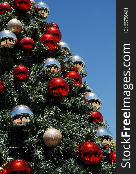 Christmas baubles in sunny South Africa
