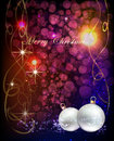 Free Christmas Background With Balls Stock Photography - 35760202