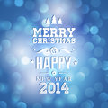 Free Merry Christmas And Happy New Year Card Stock Photo - 35765000