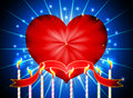 Free Glossy Heart Valentines Day Stock Photography - 35766532