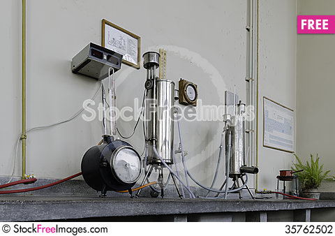 Free Old Laboratory,  Thermotechnics Lab Stock Photography - 35762502