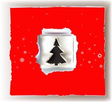 Christmas Background Paper Design Royalty Free Stock Photography