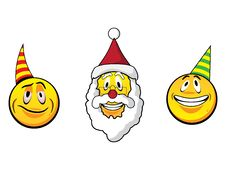 Free Christmas Smiley Faces Stock Image - 35760411
