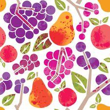 Free Fruit Pattern Royalty Free Stock Photo - 35760515