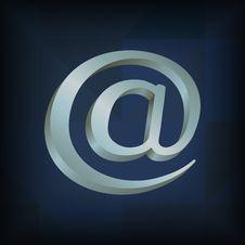 E-mail Symbol Icon Royalty Free Stock Photos