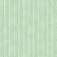 Simple Striped Floral Pattern Stock Image