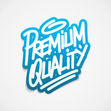 Free Premium Quality Label Lettering Stock Image - 35762031