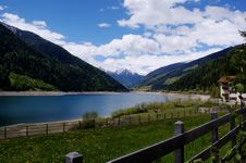Free A Dam Lake In South Tyrol Stock Photo - 35763670