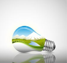 Free Light Bulb, Ecological Concept Stock Photography - 35765432