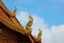 Roof Style Of Thai Temple Stock Images