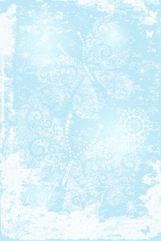 Gentle Blue Christmas Background Stock Image