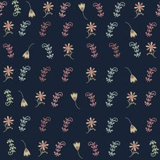 Free Floral Seamless Pattern And Seamless Pattern In Sw Royalty Free Stock Image - 35769776
