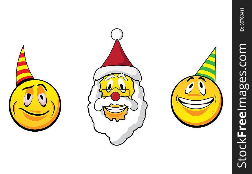 christmas smiley faces - Christmas Smiley Faces