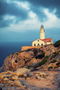 Free Lighthouse Capdepera In Mallorca Stock Photography - 35776342