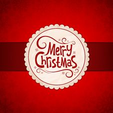 Free Card For Christmas Stock Images - 35770144